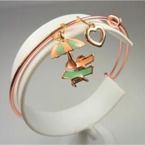Jewelry - NAUTICAL UMBRELLA BEACH CHAIRS AND HEART BRACELET